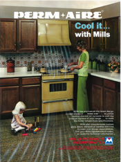 Mills Products Retro Ad for ovens