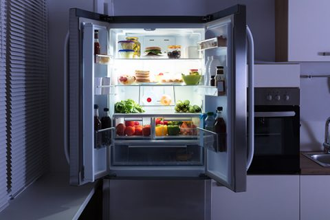 Premium Refrigerator Interior Photo