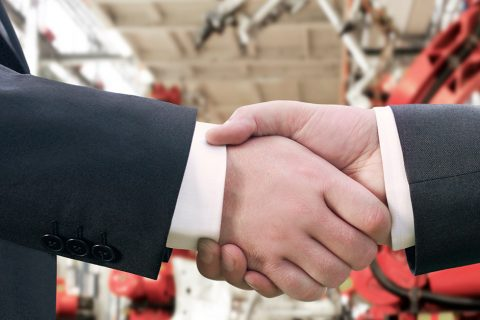 Manufacturers Handshake Photo